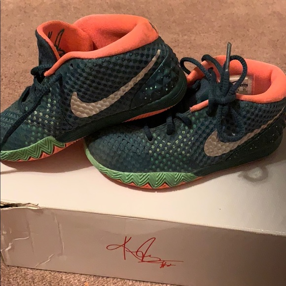 the best attitude c3b24 2b93f Nike KYRIE 1 (TD) Green shoes Toddler 9C